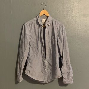 Men's Striped Casual Button Up Shirt